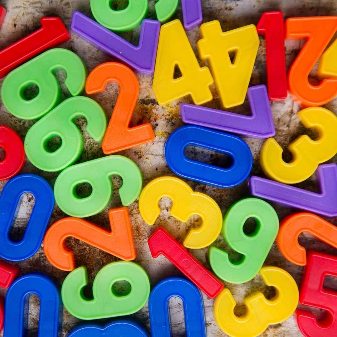 lots of random coloured numbers